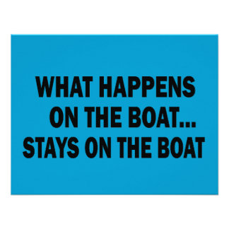 WHAT HAPPENS ON THE BOAT... STAYS ON THE BOAT INVITATIONS