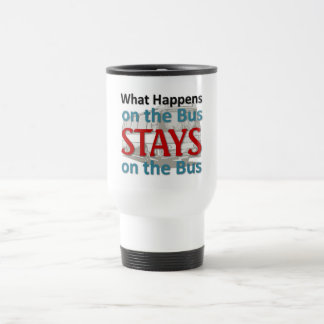 What happens on the bus travel mug