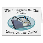 What Happens On The Cruise Greeting Card