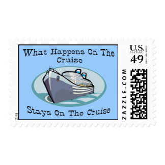 What Happens On The Cruise Postage Stamp
