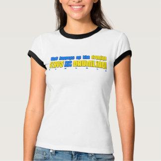What Happens on the Drumline Ladies Ringer T-Shirt
