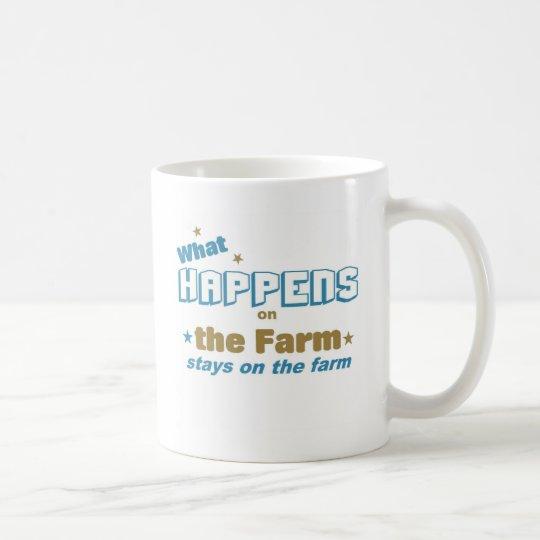 What happens on the farm coffee mug