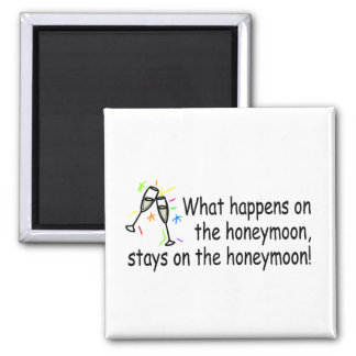 What Happens On The Honeymoon... 2 Inch Square Magnet