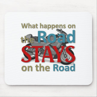 What happens on the road mouse pad