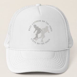What Happens On The Track Stays On The Track Trucker Hat