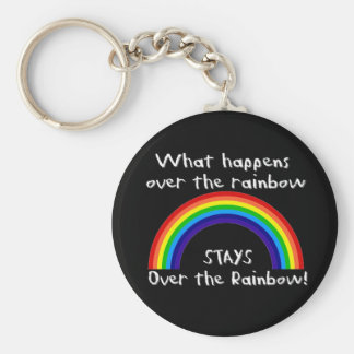 What Happens Over The Rainbow... Basic Round Button Keychain