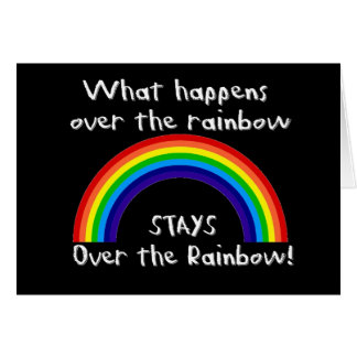 What Happens Over The Rainbow... Card