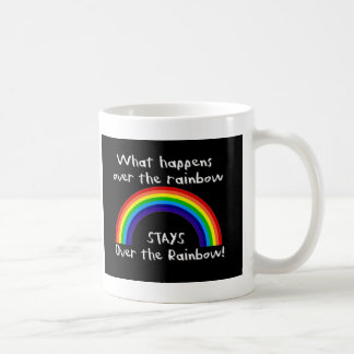 What Happens Over The Rainbow... Classic White Coffee Mug