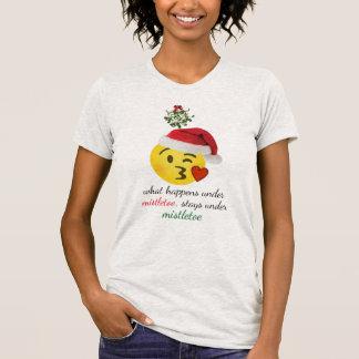 what happens under mistletoe christmas t-shirt