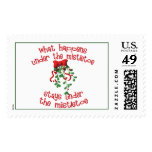 What Happens Under The Mistletoe Postage Stamps