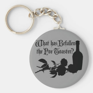 What Has Befallen The Poe Toaster Basic Round Button Keychain