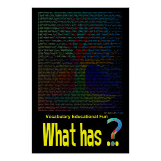 What has...  Tree Poster Book Non-Rhyming