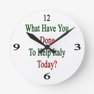 What Have You Done To Help Italy Today? Round Wallclock