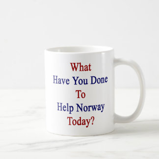 What Have You Done To Help Norway Today? Coffee Mug