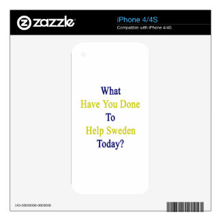 What Have You Done To Help Sweden Today? iPhone 4 Skins