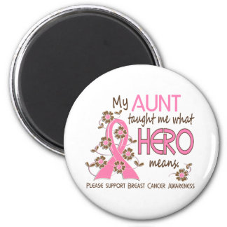 What Hero Means Breast Cancer Aunt Refrigerator Magnets