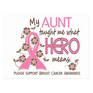 What Hero Means Breast Cancer Aunt Postcard