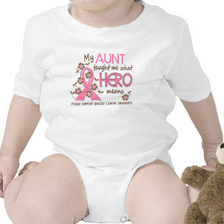 What Hero Means Breast Cancer Aunt Tee Shirt
