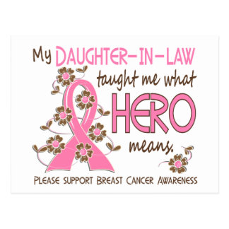 What Hero Means Breast Cancer Daughter-In-Law Postcard
