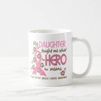 What Hero Means Breast Cancer Daughter Coffee Mugs