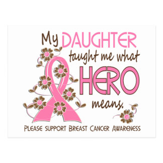 What Hero Means Breast Cancer Daughter Postcard