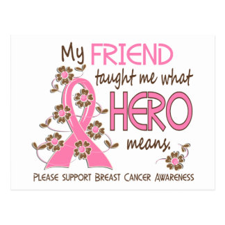 What Hero Means Breast Cancer Friend Postcard