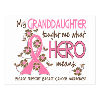What Hero Means Breast Cancer Granddaughter Postcard