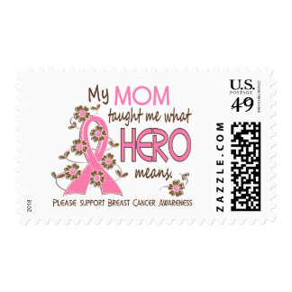 What Hero Means Breast Cancer Mom Stamp