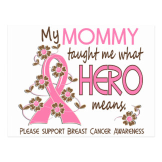 What Hero Means Breast Cancer Mommy Postcard