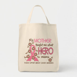 What Hero Means Breast Cancer Mother Tote Bag