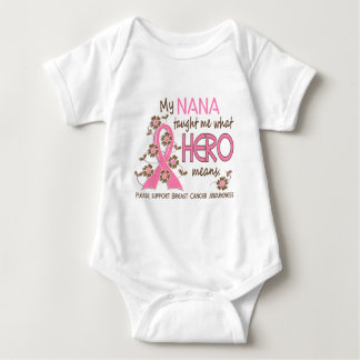 What Hero Means Breast Cancer Nana Baby Bodysuit