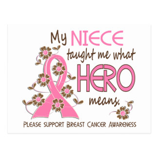 What Hero Means Breast Cancer Niece Postcard