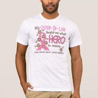 What Hero Means Breast Cancer Sister-In-Law T-Shirt