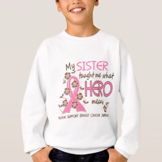 What Hero Means Breast Cancer Sister Sweatshirt