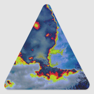 What Hides In The Clouds? Triangle Sticker