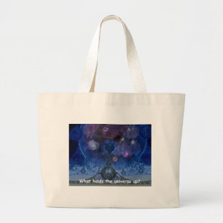 What holds the universe up? jumbo tote bag