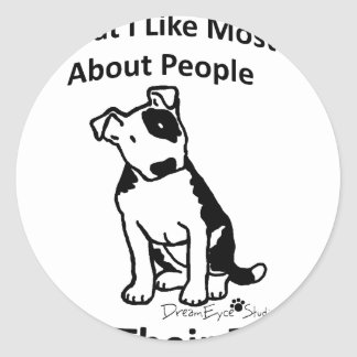 What I like most about people... Classic Round Sticker