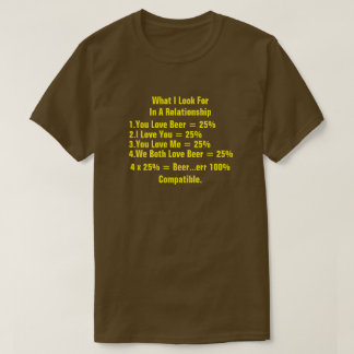 What I Look For In A Relationship Yellow T-Shirt