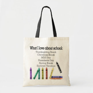 What I love about school! Canvas Bag