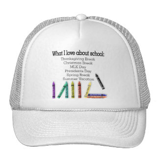 What I love about school! Hats