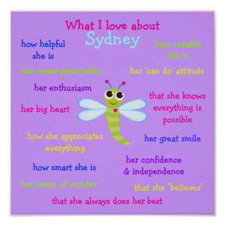 What I love about Sydney Personalized Poster