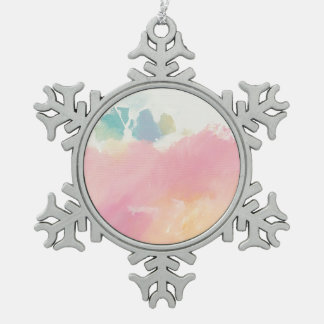 What I Saw Upon Waking Snowflake Pewter Christmas Ornament