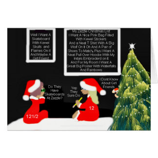 What I Want For Christmas From Zazzle Card