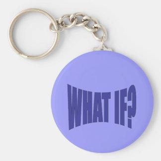 What If Basic Round Button Keychain