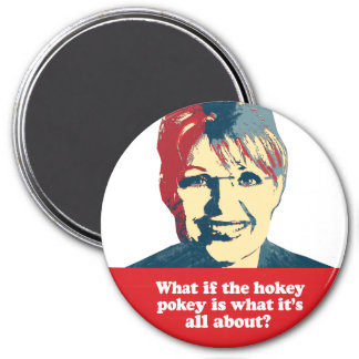 What if the hokey pokey is what it's all about 3 inch round magnet