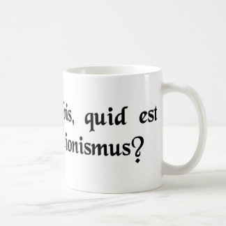 What, in a nutshell, is deconstructionism? coffee mug