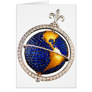 What in the World? Globe Costume Jewelry AddText Card