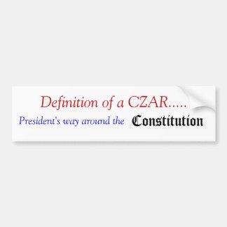 What is a CZAR Car Bumper Sticker