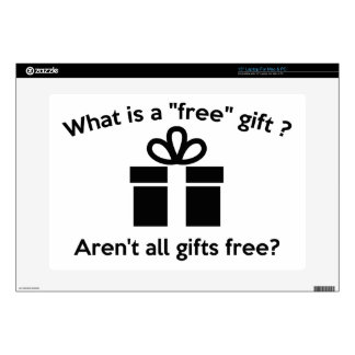 """What Is A Free Gift? Decals For 15"""" Laptops"""