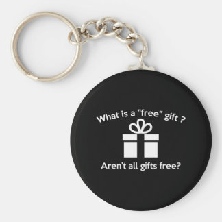 What Is A Free Gift? Basic Round Button Keychain